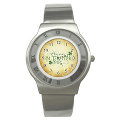 Irish St Patrick S Day Ireland Stainless Steel Watch by Simbadda