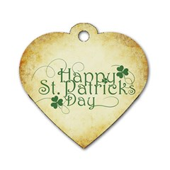 Irish St Patrick S Day Ireland Dog Tag Heart (one Side) by Simbadda