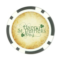 Irish St Patrick S Day Ireland Poker Chip Card Guard (10 Pack) by Simbadda