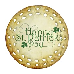 Irish St Patrick S Day Ireland Ornament (round Filigree) by Simbadda