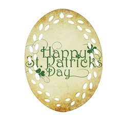 Irish St Patrick S Day Ireland Oval Filigree Ornament (two Sides) by Simbadda