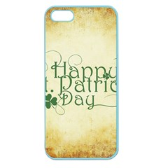 Irish St Patrick S Day Ireland Apple Seamless Iphone 5 Case (color) by Simbadda