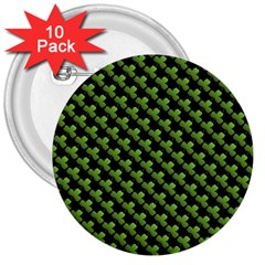 St Patrick S Day Background 3  Buttons (10 Pack)  by Simbadda