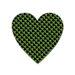 St Patrick S Day Background Heart Magnet by Simbadda