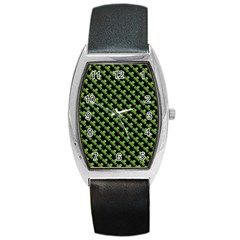 St Patrick S Day Background Barrel Style Metal Watch by Simbadda