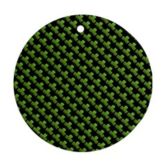 St Patrick S Day Background Round Ornament (two Sides) by Simbadda