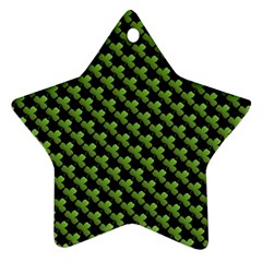 St Patrick S Day Background Star Ornament (two Sides) by Simbadda