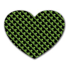 St Patrick S Day Background Heart Mousepads by Simbadda