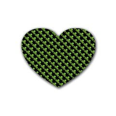 St Patrick S Day Background Rubber Coaster (heart)  by Simbadda