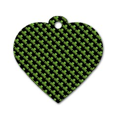 St Patrick S Day Background Dog Tag Heart (one Side) by Simbadda