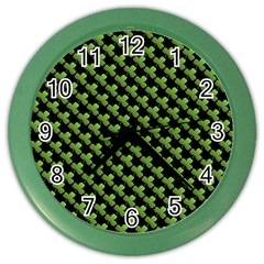 St Patrick S Day Background Color Wall Clocks by Simbadda