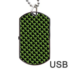 St Patrick S Day Background Dog Tag Usb Flash (one Side) by Simbadda