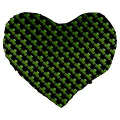 St Patrick S Day Background Large 19  Premium Flano Heart Shape Cushions by Simbadda
