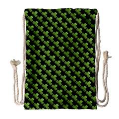 St Patrick S Day Background Drawstring Bag (large) by Simbadda