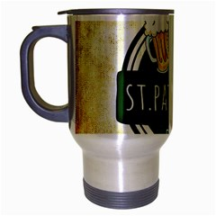 Irish St Patrick S Day Ireland Beer Travel Mug (silver Gray) by Simbadda