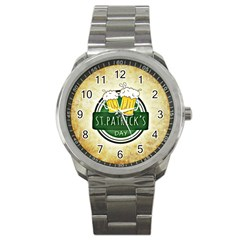 Irish St Patrick S Day Ireland Beer Sport Metal Watch by Simbadda
