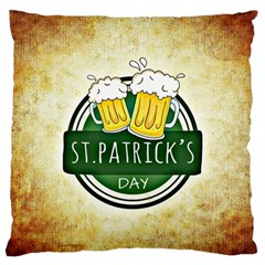 Irish St Patrick S Day Ireland Beer Standard Flano Cushion Case (two Sides) by Simbadda