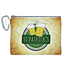 Irish St Patrick S Day Ireland Beer Canvas Cosmetic Bag (xl) by Simbadda