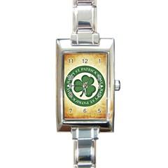 Irish St Patrick S Day Ireland Rectangle Italian Charm Watch by Simbadda