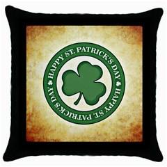 Irish St Patrick S Day Ireland Throw Pillow Case (black) by Simbadda