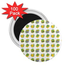 St Patrick S Day Background Symbols 2 25  Magnets (100 Pack)  by Simbadda