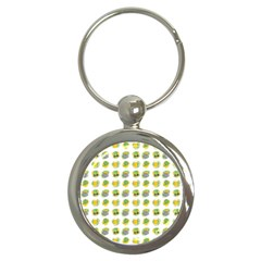 St Patrick S Day Background Symbols Key Chains (round)  by Simbadda