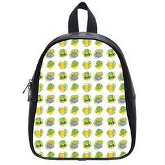 St Patrick S Day Background Symbols School Bags (small)  by Simbadda