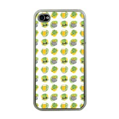 St Patrick S Day Background Symbols Apple Iphone 4 Case (clear) by Simbadda