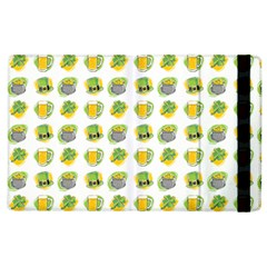 St Patrick S Day Background Symbols Apple Ipad 3/4 Flip Case by Simbadda