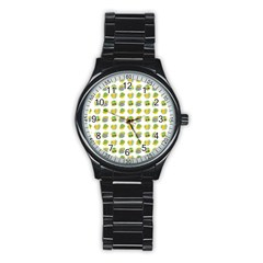 St Patrick S Day Background Symbols Stainless Steel Round Watch by Simbadda