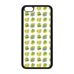 St Patrick S Day Background Symbols Apple Iphone 5c Seamless Case (black) by Simbadda