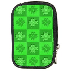 Fabric Shamrocks Clovers Compact Camera Cases by Simbadda