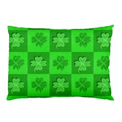 Fabric Shamrocks Clovers Pillow Case (two Sides) by Simbadda