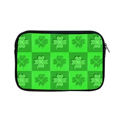 Fabric Shamrocks Clovers Apple Ipad Mini Zipper Cases by Simbadda