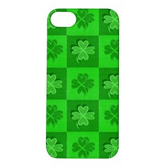 Fabric Shamrocks Clovers Apple Iphone 5s/ Se Hardshell Case by Simbadda