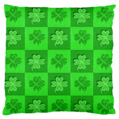 Fabric Shamrocks Clovers Standard Flano Cushion Case (two Sides) by Simbadda