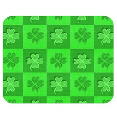 Fabric Shamrocks Clovers Double Sided Flano Blanket (medium)  by Simbadda