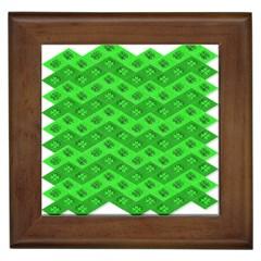 Shamrocks 3d Fabric 4 Leaf Clover Framed Tiles by Simbadda