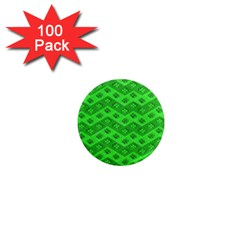Shamrocks 3d Fabric 4 Leaf Clover 1  Mini Magnets (100 Pack)  by Simbadda