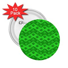 Shamrocks 3d Fabric 4 Leaf Clover 2 25  Buttons (10 Pack)  by Simbadda