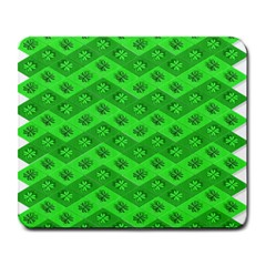 Shamrocks 3d Fabric 4 Leaf Clover Large Mousepads by Simbadda