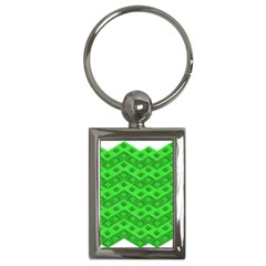 Shamrocks 3d Fabric 4 Leaf Clover Key Chains (rectangle)  by Simbadda