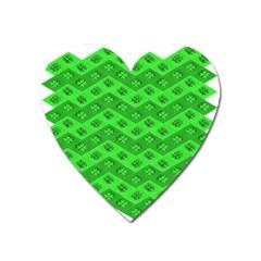 Shamrocks 3d Fabric 4 Leaf Clover Heart Magnet by Simbadda