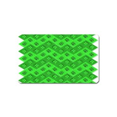 Shamrocks 3d Fabric 4 Leaf Clover Magnet (name Card) by Simbadda