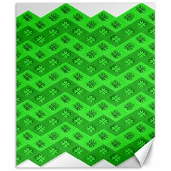 Shamrocks 3d Fabric 4 Leaf Clover Canvas 8  X 10  by Simbadda