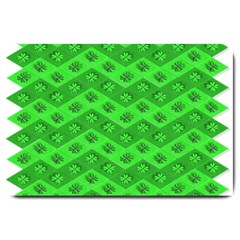 Shamrocks 3d Fabric 4 Leaf Clover Large Doormat  by Simbadda