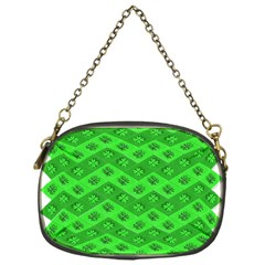 Shamrocks 3d Fabric 4 Leaf Clover Chain Purses (one Side)  by Simbadda
