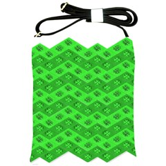 Shamrocks 3d Fabric 4 Leaf Clover Shoulder Sling Bags by Simbadda