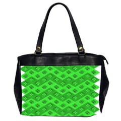 Shamrocks 3d Fabric 4 Leaf Clover Office Handbags (2 Sides)  by Simbadda