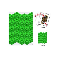 Shamrocks 3d Fabric 4 Leaf Clover Playing Cards (mini)  by Simbadda